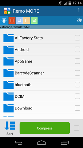 Compressing Videos on Android - Choose Files and Tap on Compress Button