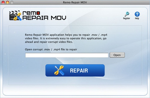 Repair MOV Files on Mac - Main Screen